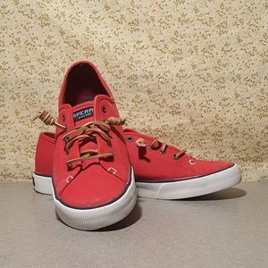 Sperry Canvas Red Top Sider 9.5